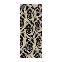 Passadeira Veludo Rosas 60x230 cm Bege - Rayza
