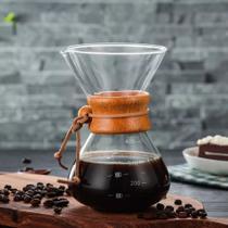 Passador De Café de Vidro e Coador Inox 350ml - Mimo Style