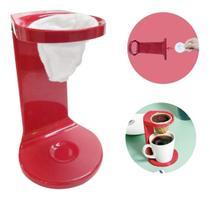 Passador De Café Individual C/ Coador My Coffee Vermelho Ou - Ou-Martiplast