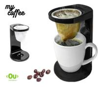 Passador De Café Mini Coador Com Caneca E 1 Refil Pano - Ou -