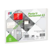 Pasta U Horizontal Rígida A5 Transparente UND - Paperhome
