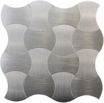 Pastilha Adesiva para Revestimento de Parede- Aço Escovado - Clerkzdecor