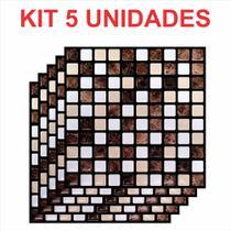 Pastilha Adesiva Resinada Código M297 MG-PRETO kit 5 placas - Kipastilha