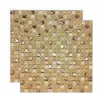 Pastilha de vidro Creta 30x30cm bege Royal Gres -