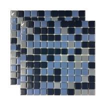 Pastilha de vidro Ecolgic Mescla Natural 30x30cm azul Royal Gres -