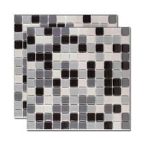 Pastilha de vidro Ecologic Mescla natural cinza 30x30cm Royal Gres -