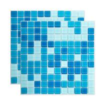 Pastilha de vidro Mescla 30x30cm azul claro Royal Gres -