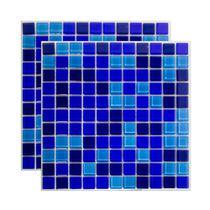 Pastilha de vidro Mescla Safira 30x30cm azul Royal Gres -