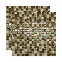 Pastilha de vidro Mykonos 30x30cm bege Royal Gres -
