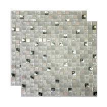 Pastilha de vidro Santorini 30x30cm branco Royal Gres -