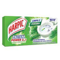Pastilha Sanitaria Adesiva Power 2 em 1 9g cada Pinho 3 UN Harpic -