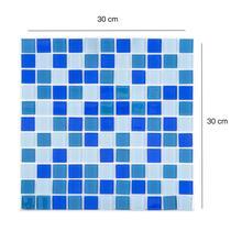 Pastilha Vidro Lisa 2m² Mix Azul Escuro - Evolux