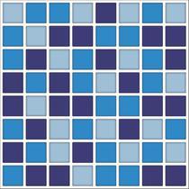 PASTILHAS RESINADA AUTOCOLANTE 22,5cm x 22,5cm  STY12 Azul, Azul marinho, Cinza - Tacdecor