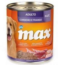 PATÊ MAX CÃES FILHOTES SABOR CORDEIRO E FRANGO - 280g -
