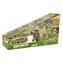 Patinete 3 Rodas Com Cesta Dinossauro DMT5620 - DM Toys - Dmtoys