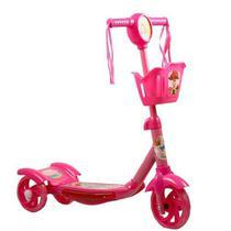 Patinete 3 Rodas Infantil Musical com Luzes até 5 anos Rosa - Pop Brinquedos -