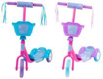 Patinete com Cestinha Feminino Infantil 3 Rodas - Bbr Toys