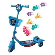 Patinete de 3 Rodas Infantil Importway Azul com Cesta Bw010AZ -