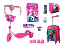 Patinete Frozen 2 com 9 itens - Ska Kids