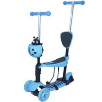 Patinete Infantil 3 Rodas 3x1 Scooter Cadeirinha Assento Empurrador Triciclo Importway BW-048AZ Azul -