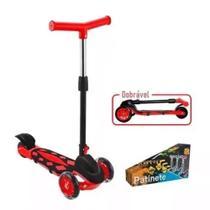 Patinete Infantil 3 Rodas Radical Power Vermelho - DM Toys -