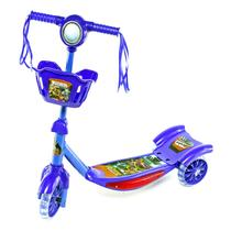 Patinete Infantil Ajustável Com Cesta Azul Até 35kg - Samba - Samba Toys