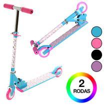 Patinete Infantil Azul e Rosa BBR Toys -