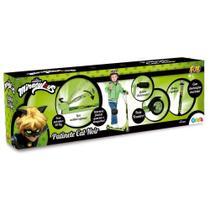 Patinete Infantil Cat Noir verde e preto 82405 - Miraculous  Ladybug - Fun -