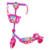 Patinete Infantil Com Cesta Som E Luz 5621 Princesa Belinda - Dm Toys -