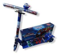 Patinete infantil de ferro 3 rodas com luz - homem aranha - Scooter - Alo