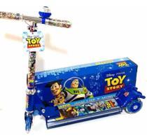 Patinete Infantil de Ferro - Toy Story - Com Luzes - 3 Rodas - Aloa