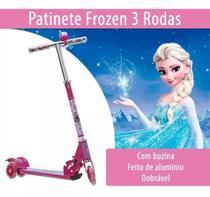 Patinete Infantil Frozen ferro Ajustável Princesa - Scooter - Alo