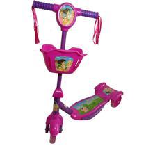 Patinete Infantil Menina Princesa 3 Rodas Musical Luzes - Analu Kids
