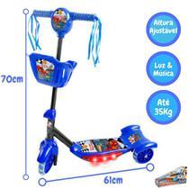 Patinete Infantil Musical Com Luzes E Cesta 3 Rodas - Dm toys