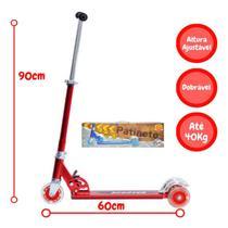 Patinete Infantil Radical 2 Rodas Alumínio Dobrável Vermelho - Dm Toys