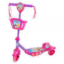 Patinete Infantil Radical Meninas 3 Rodas Musical Divertido Sonho de Princesa - Dm Toys
