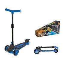 Patinete Infantil Radical Power Dobrável Com 3 Rodas Azul DMR5553 - DM Toys -