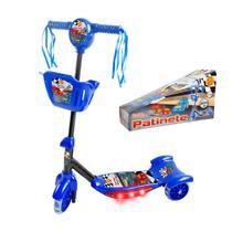 Patinete Masculino Infantil 3 Rodas C/ Luzes Som Até 35 Kg - Dm Toys
