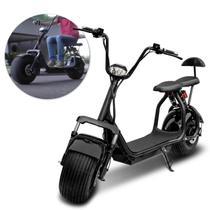 Patinete Moto Elétrica scooter Hoverboard com Banco para 2 Lugares com Alarme 1000W Bivolt Preto - Iw