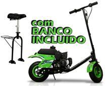 Patinete Motorizado com BANCO - Walk Machine Millenium - 42cc - 2T a gasolina. -