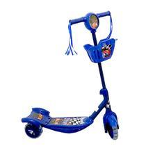 Patinete Musical 3 Rodas Cesta E Luzes Oferta - Carro (Azul) - Toysafun
