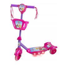 Patinete Musical Com Cesta Sonho De Princesa Com Som E Luz Dm Toys -