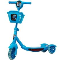 Patinete Musical Com LED - Azul - Importway