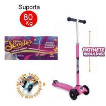 Patinete Zoop Scooter Suporta 80kgs Luz Led 3 Rodas Inmetro -