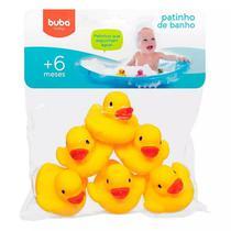 Patinhos de Banho Bebê Amarelo 6 Pçs Buba - Buba toys