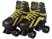 Patins 4 Rodas Infantil Roller Skate Nº 36 ao 37 - Preto Fenix