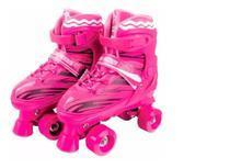 Patins 4 Rodas Quad  34 - 37  Roller Skate Ajustável - Fenix
