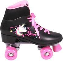 Patins 4 rodas quad love preto e rosa clássico menina 36 - Belfix