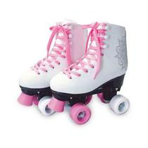 Patins 4 Rodas Quad Roller Classico Tamanho 38 Feminino - Dm Toys