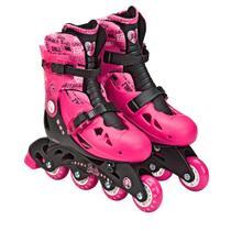 151b2c81078 Patins Ajustáveis com Kit de Segurança 4 Rodas Tamanho 33 a 36 Barbie Fun  Divirta-
